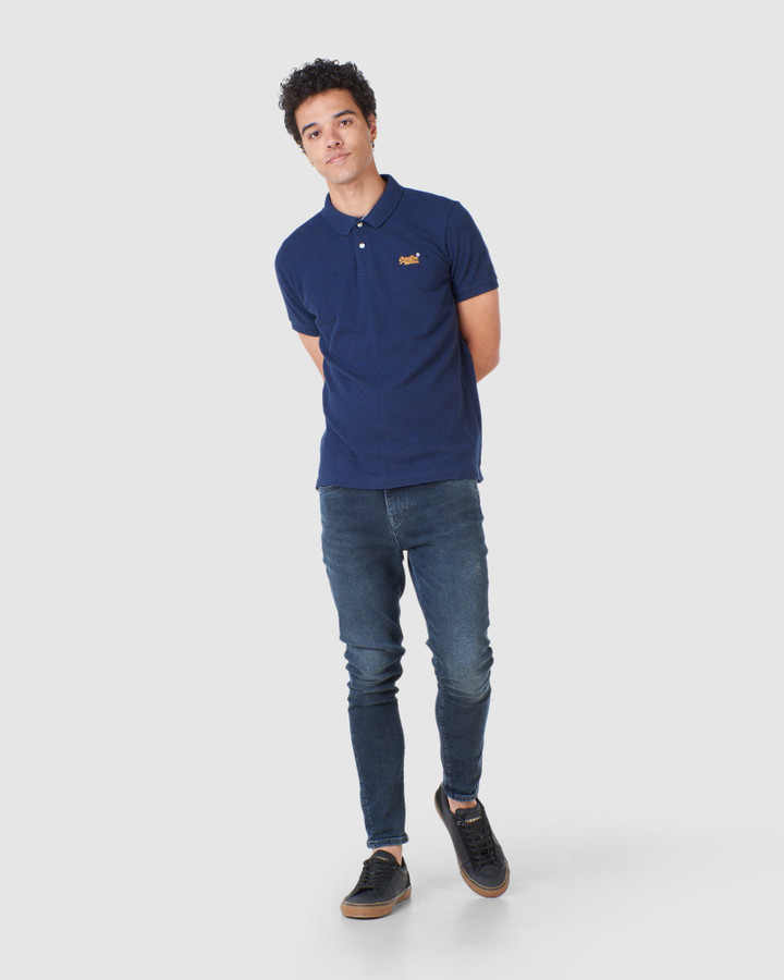 Superdry Classic Pique Polo Mid Oasis Marle