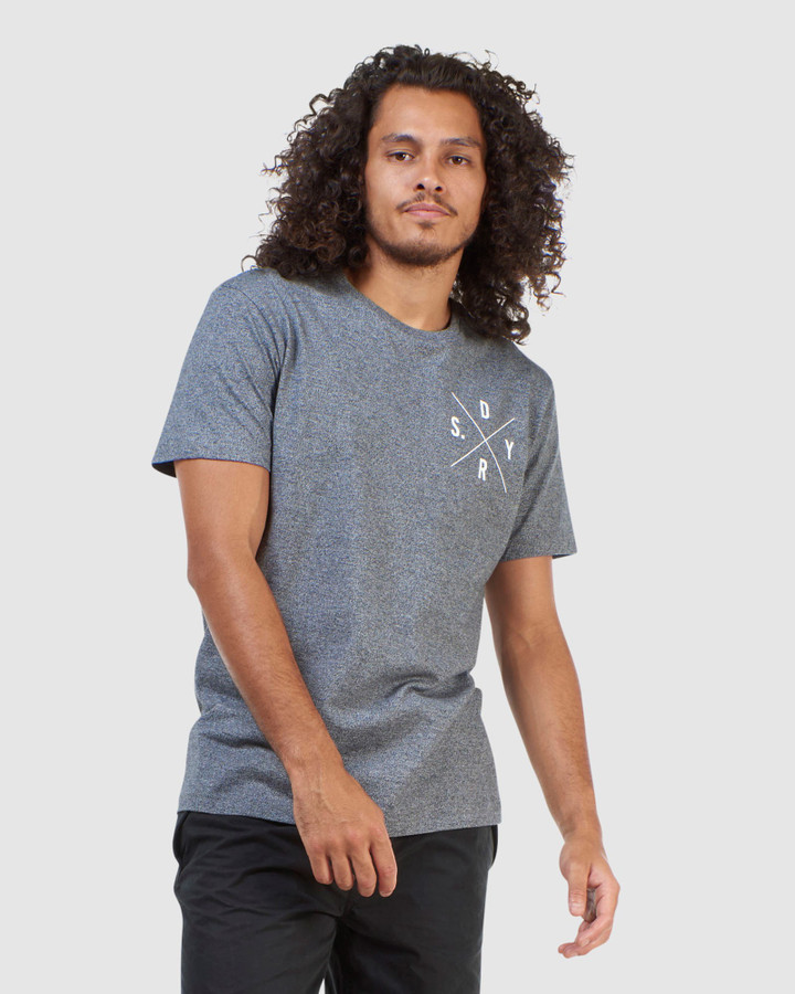 Superdry Surplus Duo Tee Twisted Black Grit