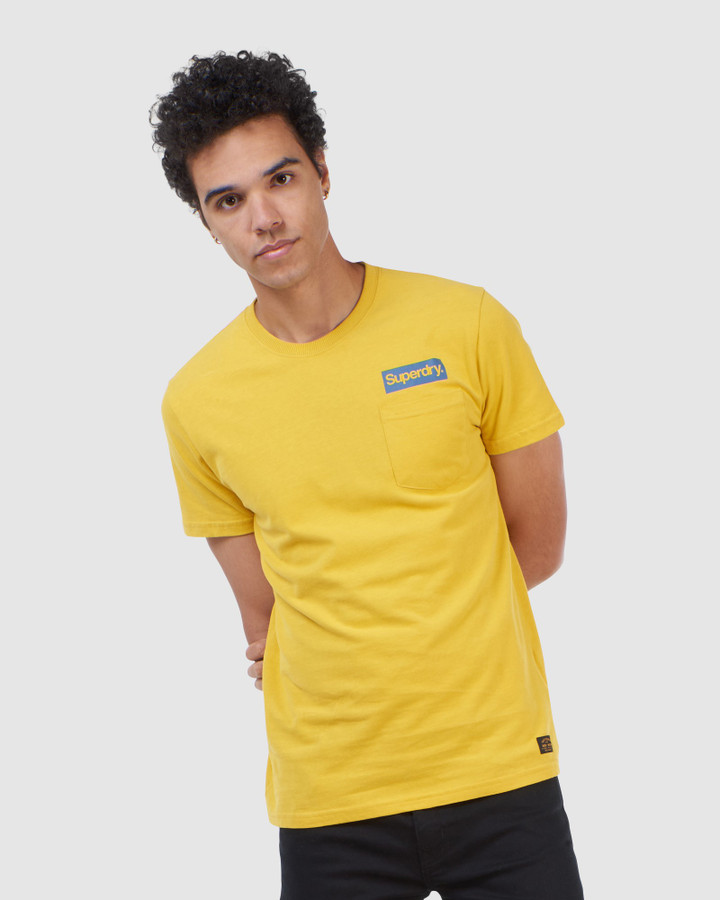 Superdry Cl Canvas Tee Yolk Yellow
