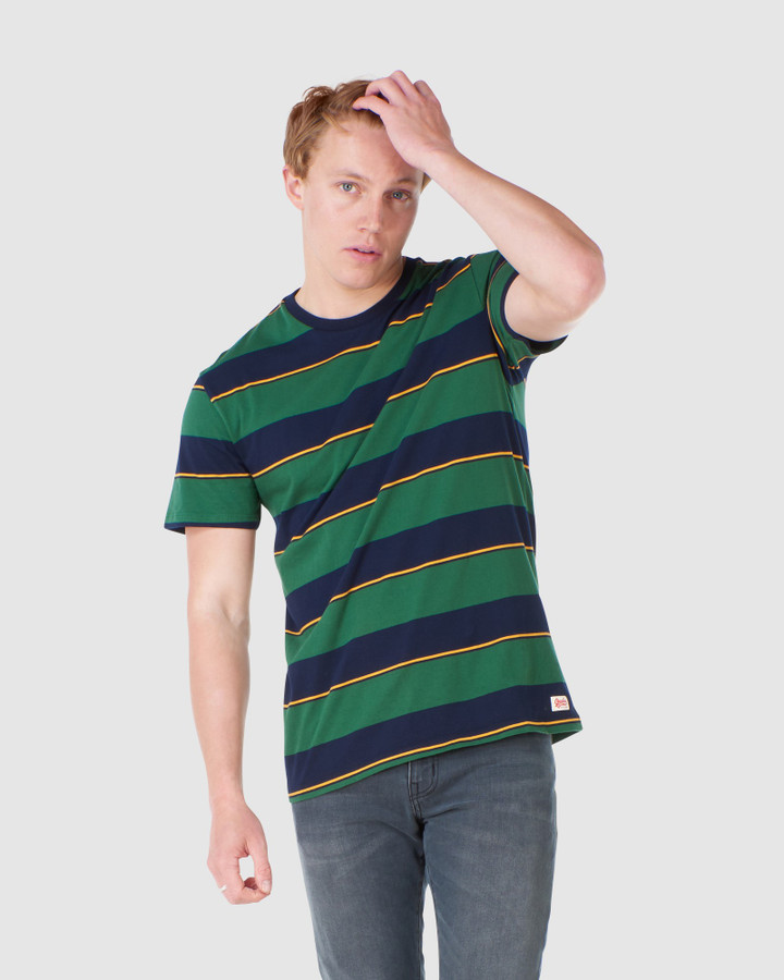 Superdry R&P Box Fit Stripe Tee Bowling Green