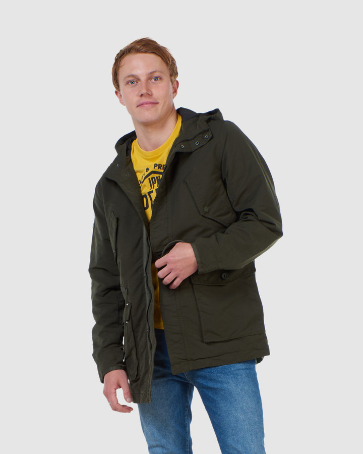 Superdry Field Parka Dark Khaki
