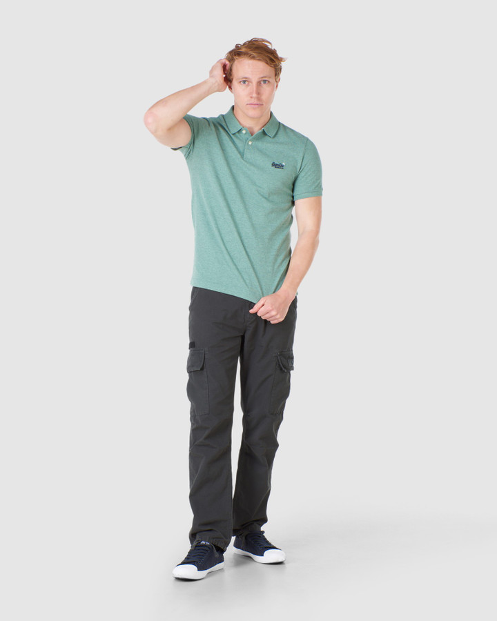 Superdry Classic Pique Polo Seagrass Green
