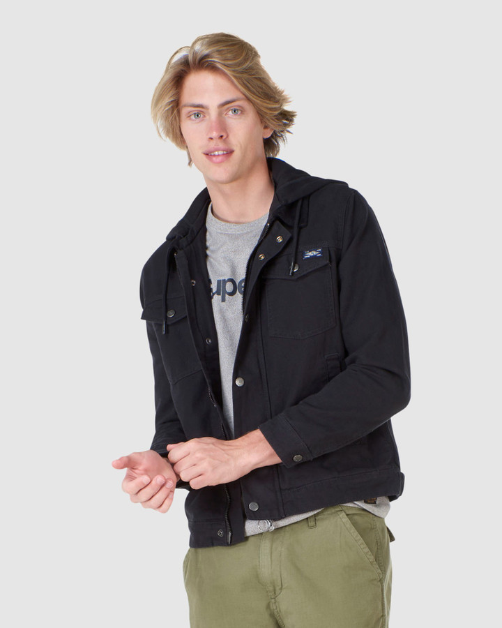 Superdry Hooded Hacienda Trucker Black