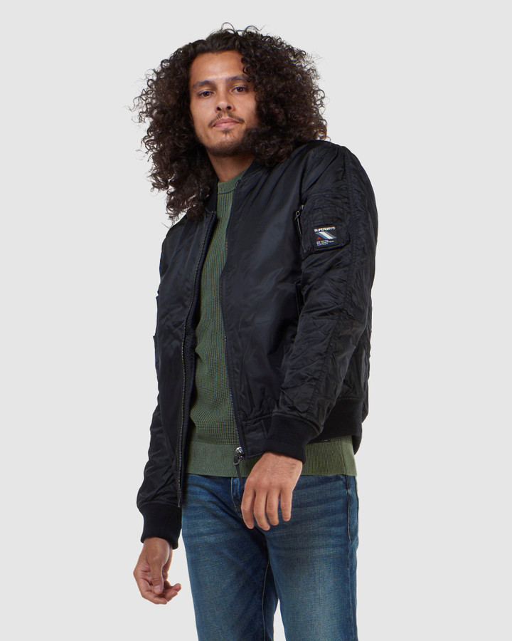 Superdry Nylon Flight Bomber Jet Black