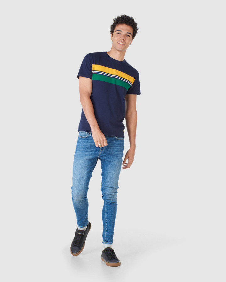 Superdry R&P Chestband Tee Nautical Navy