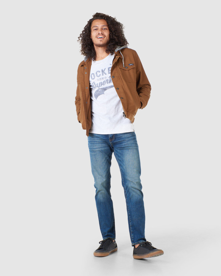 Superdry Hooded Hacienda Trucker Tan