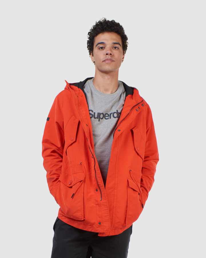 Superdry Field Parka Drop Zone Orange