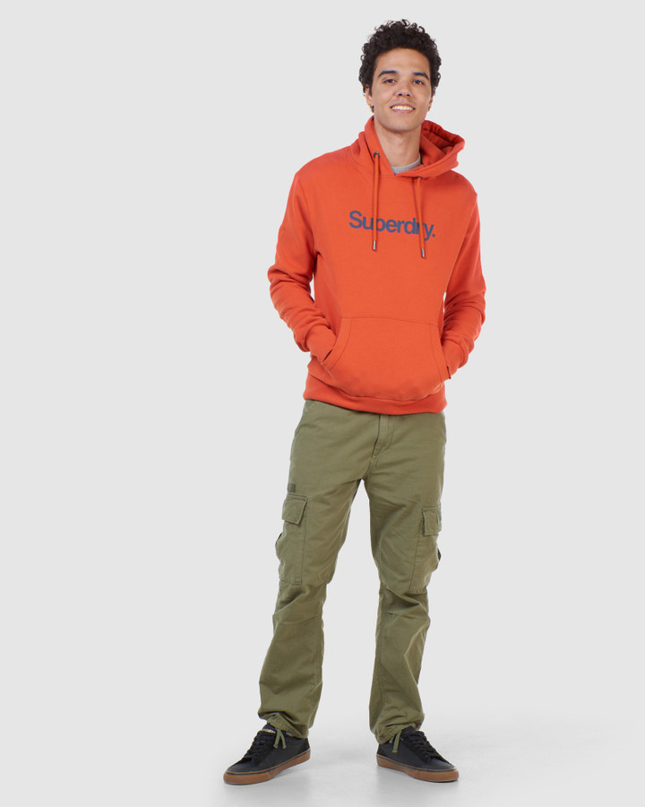 Superdry Cl Canvas Hood Denim Co Rust