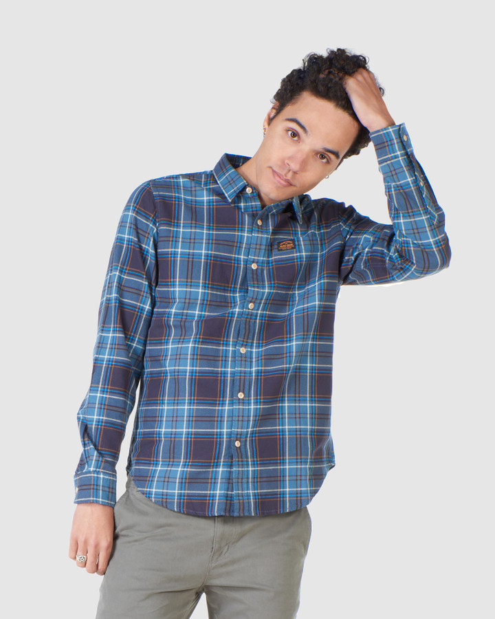 Superdry Workwear Shirt Teal Check