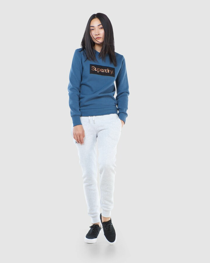 Superdry Cl Patina Crew Heritage Washed Blue