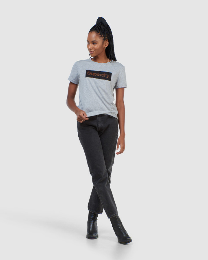 Superdry Cl Patina Tee Peppered Grey Grit