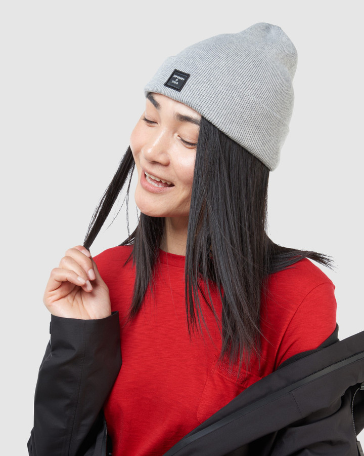 Superdry Fine Lux Beanie Light Silver Marle