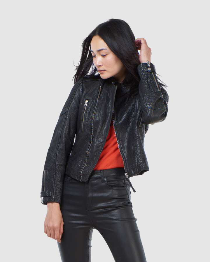 Superdry Classic Leather Racer Black