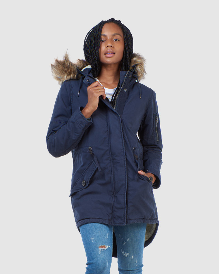 Superdry Field Parka Eclipse Navy