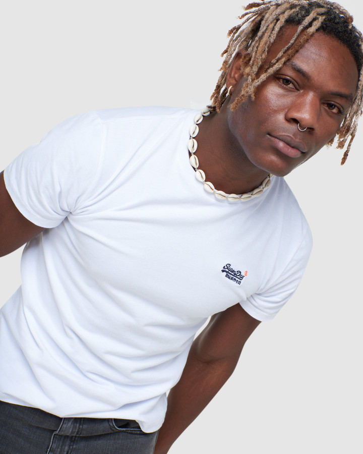 Superdry Ol Vintage Emb Tee Ns Optic