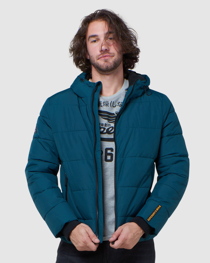 Superdry Sports Puffer Pine/Black