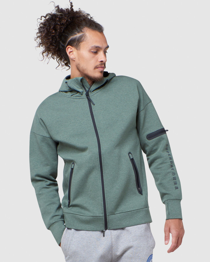 Superdry Training Gymtech Ziphood Military Duck
