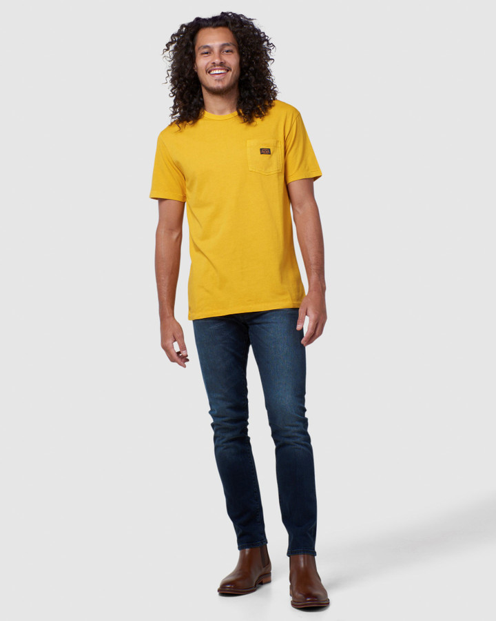 Superdry Gmt Dye Nyc Box Fit Tee Golden Rod