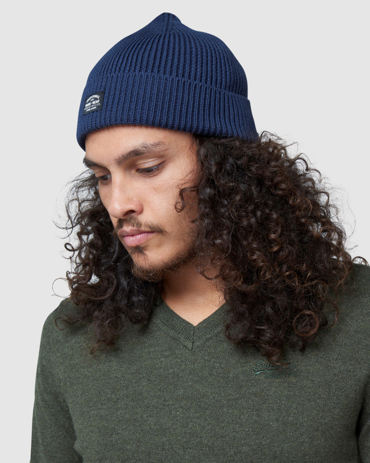 Superdry Storm Beanie Carbon Navy