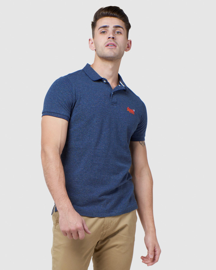 Superdry Classic Pique Polo Creek Navy Grindle