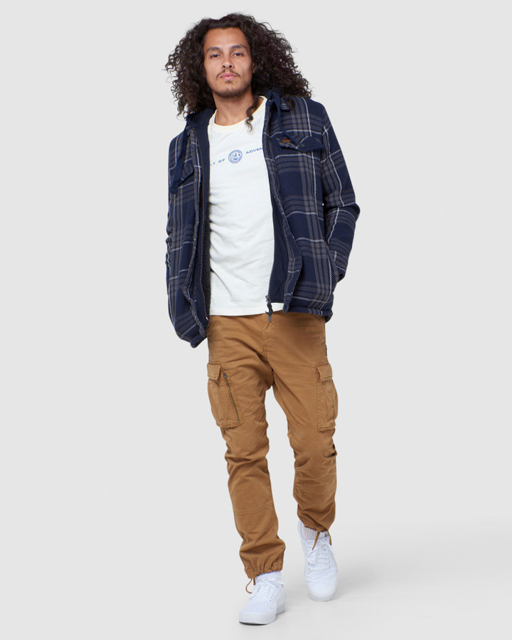 Superdry Expedition Hood Everest Navy Check