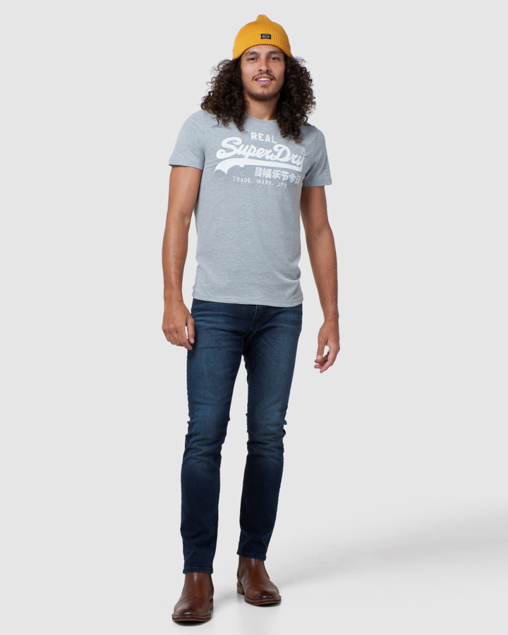 Superdry Vl Embroidery Tee Grey Marle