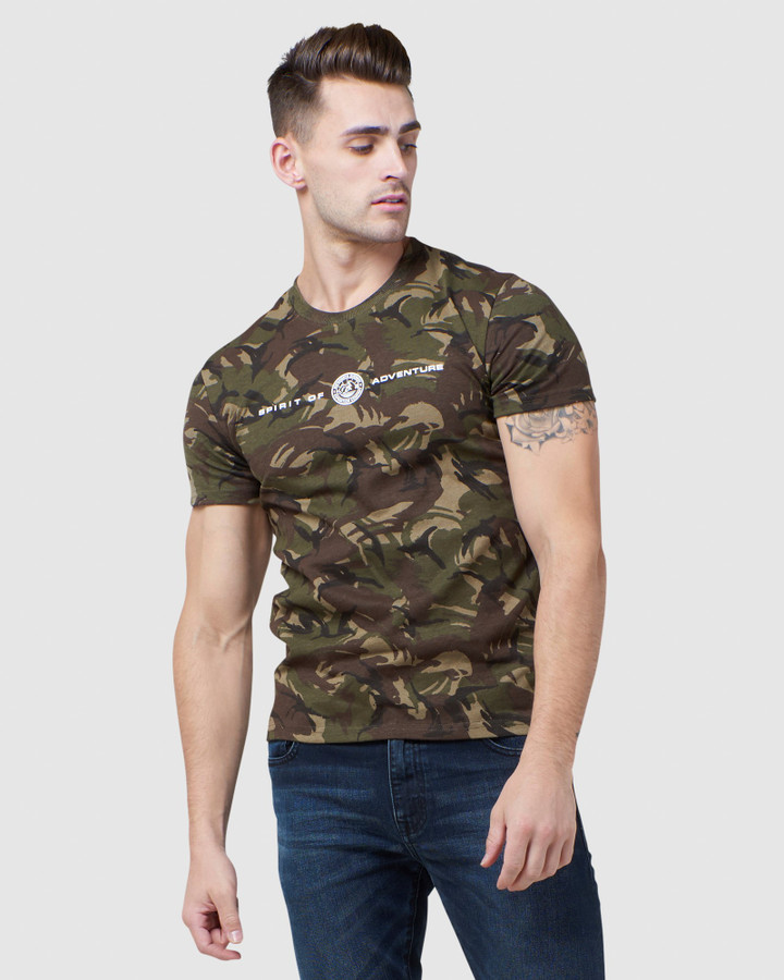 Superdry Everest Tee Ice Marle Parra Camo