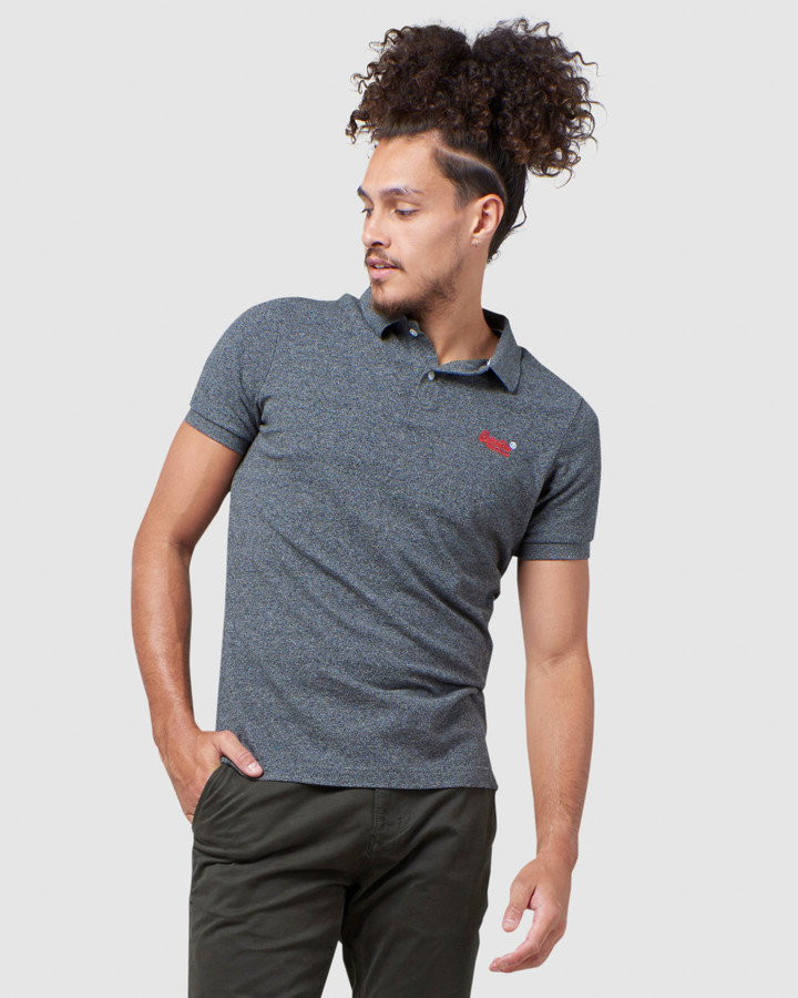 Superdry Classic Pique Polo Nordic Charcoal Grit