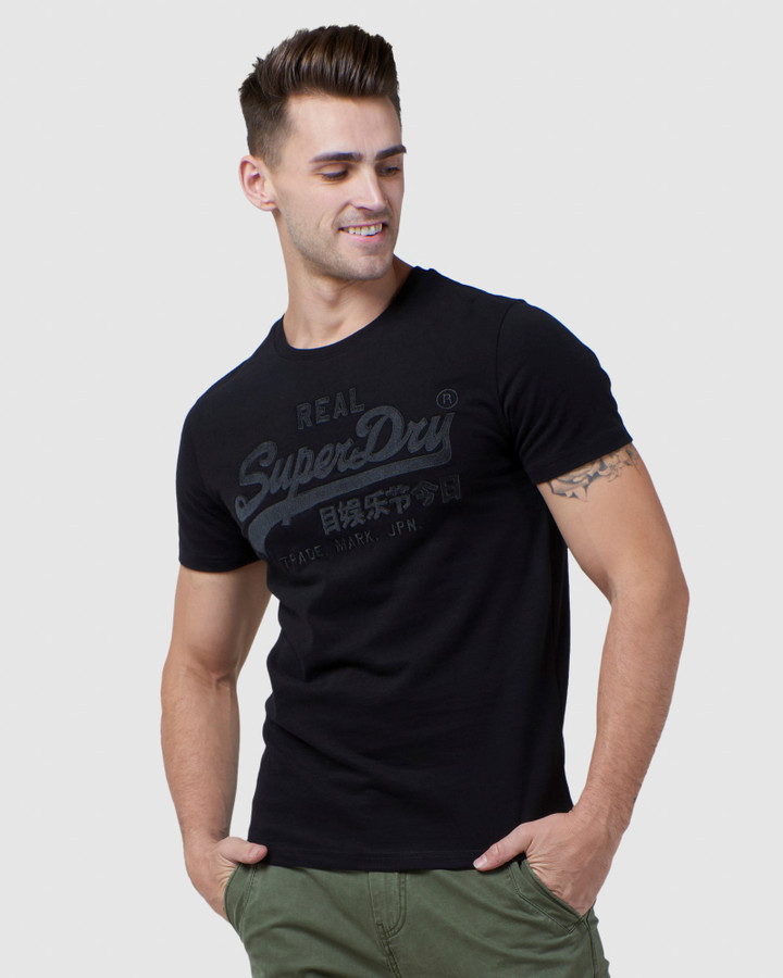 Superdry Vl Embroidery Tee Black