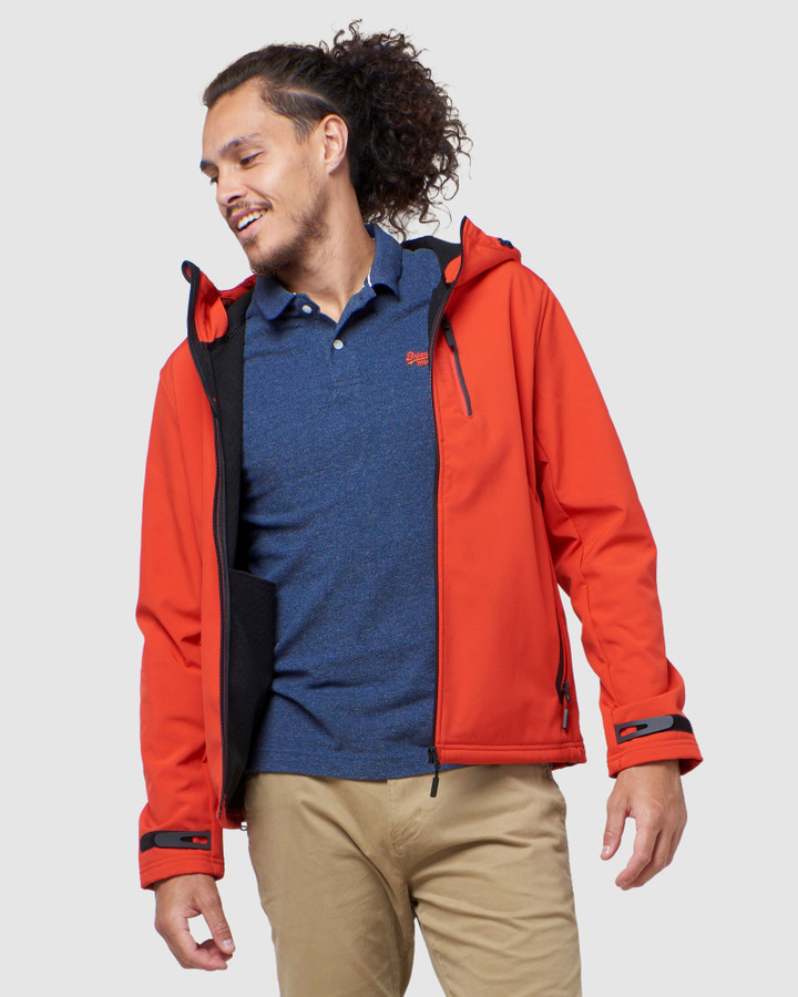 Superdry Hooded Softshell Apple Red