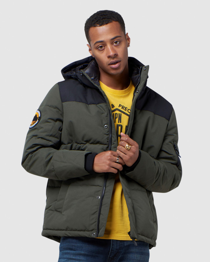Superdry Quilted Everest Jkt Army Khaki