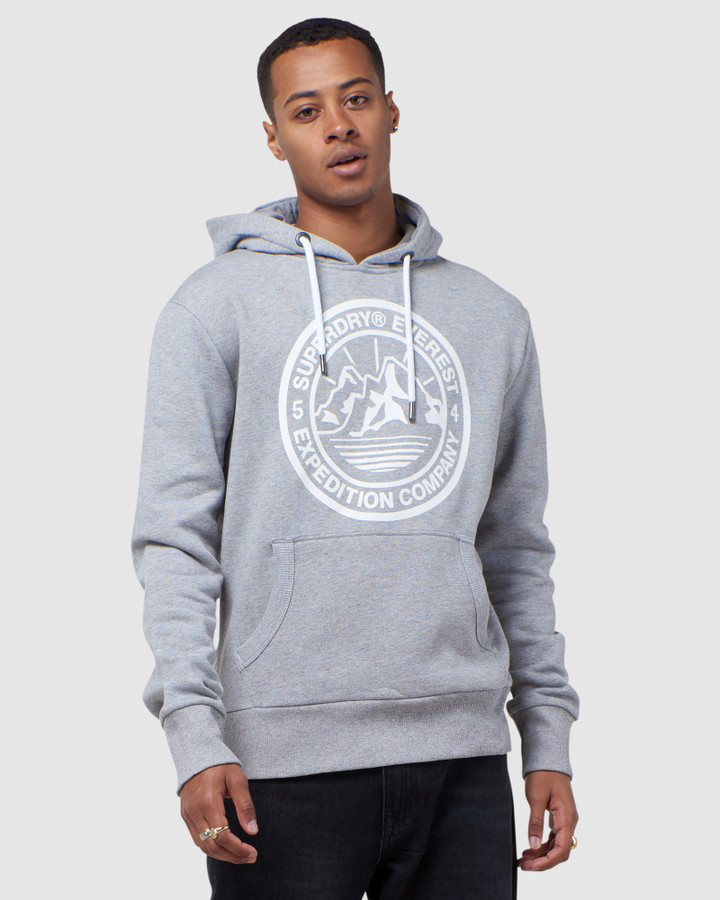 Superdry Everest Hood Peppered Grey Grit