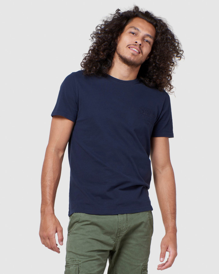 Superdry Rw Classic Applique Tee Downhill Navy