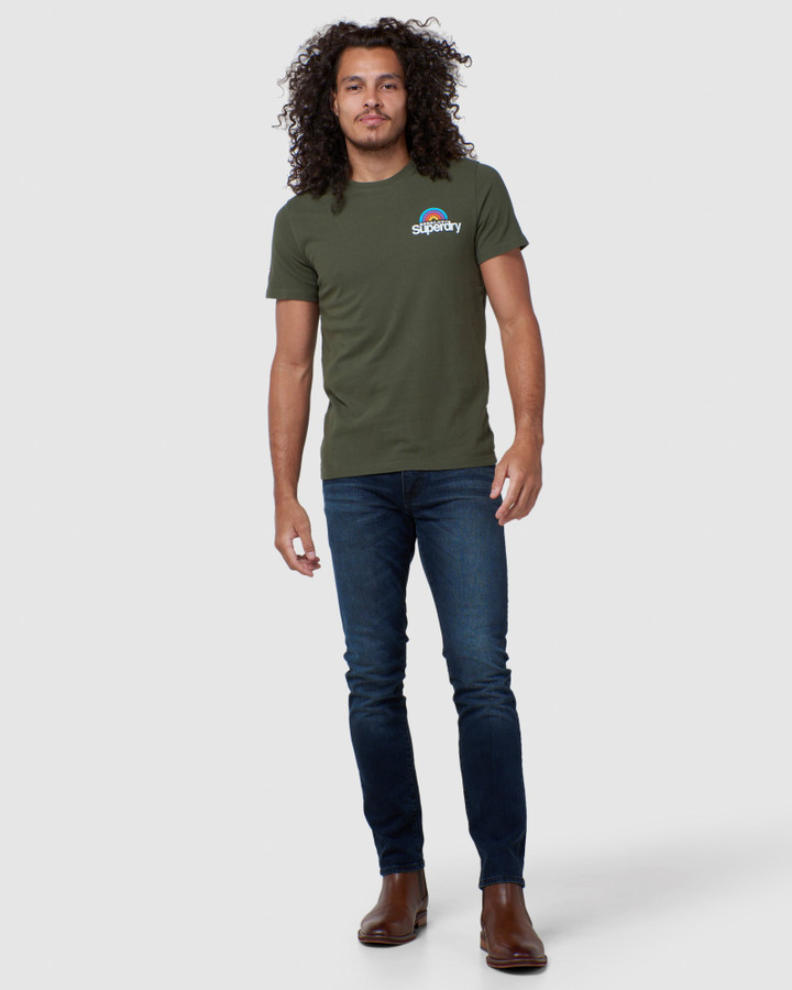 Superdry Cl Woodstock Tee Drab Overall Green