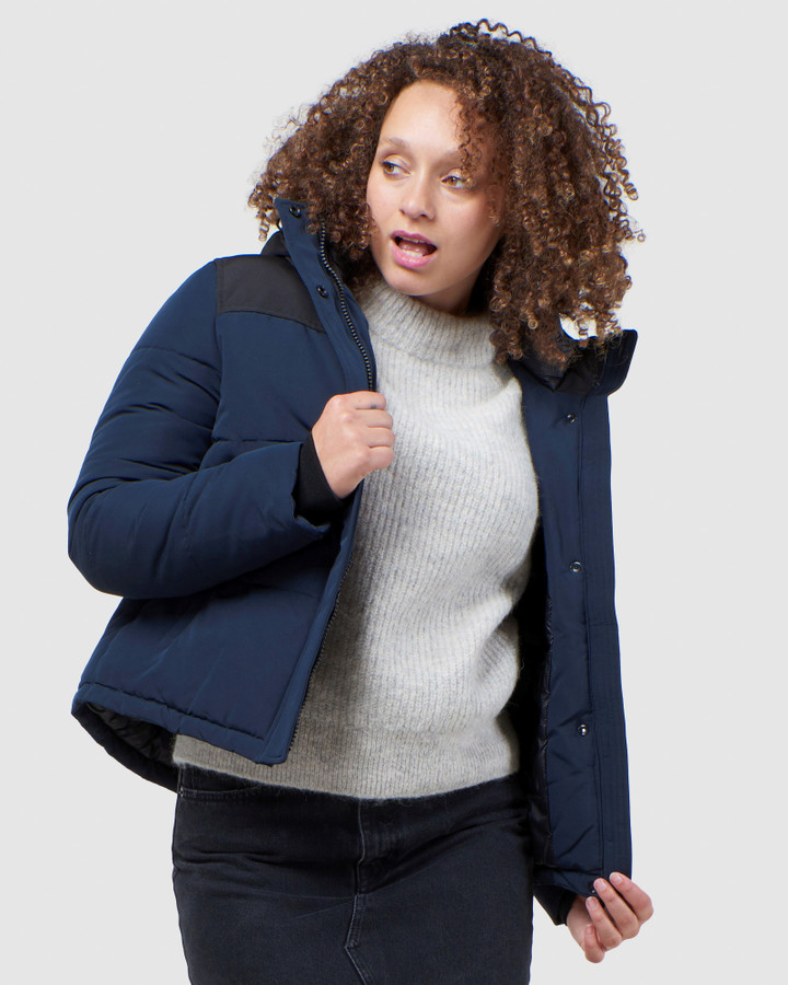 Superdry Quilted Everest Jacket Eclipse Navy