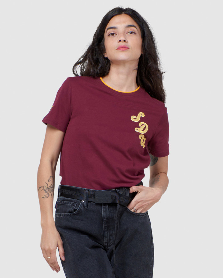 Superdry The Athletic Crew Tee Deep Port