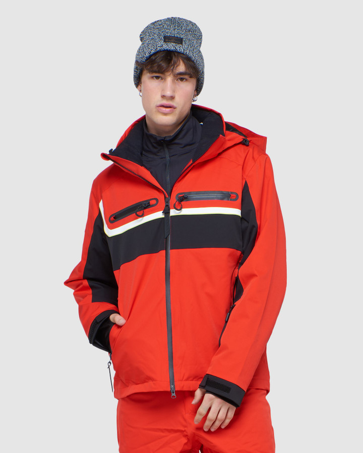 Superdry 4 X Way Stretch Racer Jacket Apple Red