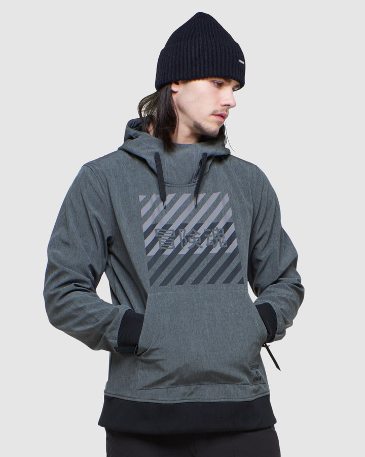 Superdry Snow Tech Hood Charcoal Marle