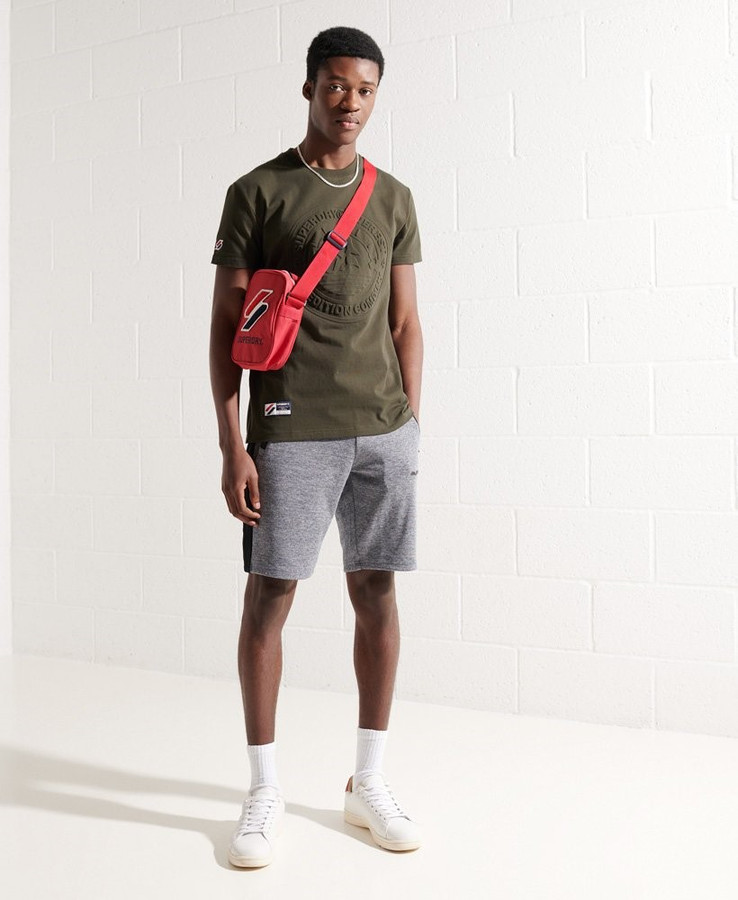Superdry Expedition Emboss Tee Surplus Goods Olive