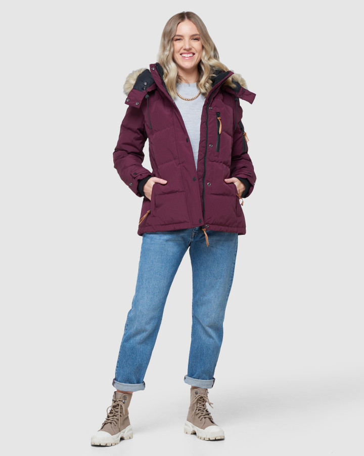 Superdry Premium Rescue Down Jacket Mulberry