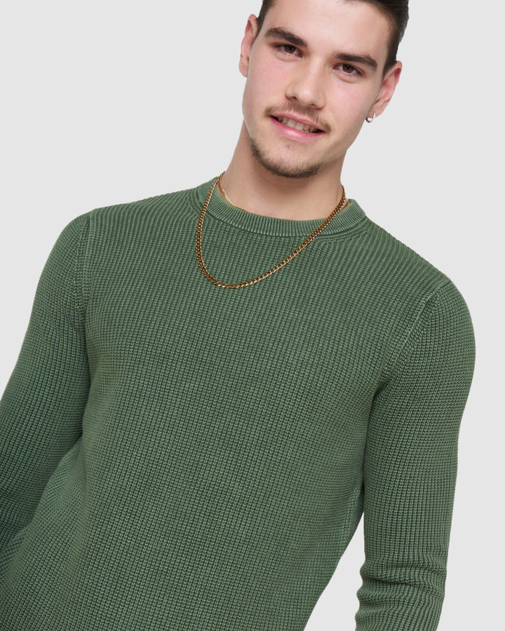 Superdry Academy Dyed Crew Seagrass