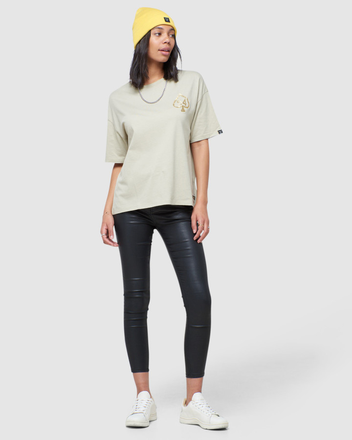 Superdry Military Narrative Boxy Tee Monument Grey