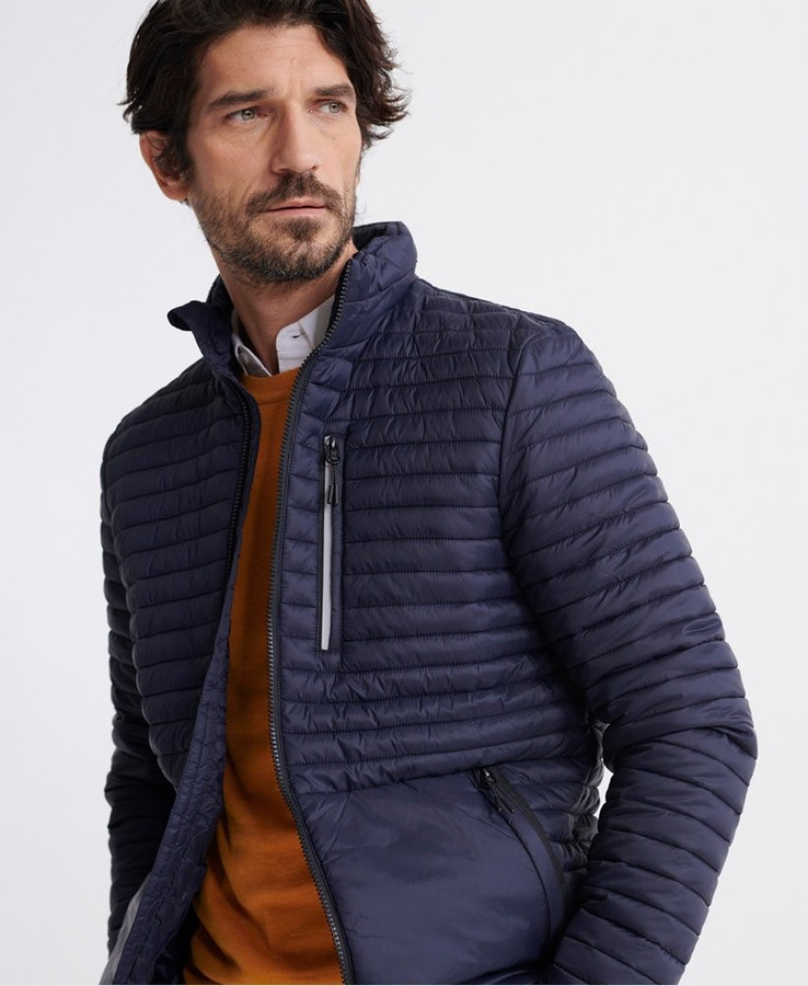 Superdry Packaway Non Hooded Fuji French Navy
