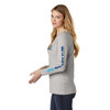 Women's Very Important Tee ® Long Sleeve V-Neck - Light Heather Grey (Minimum Order Qty 12)