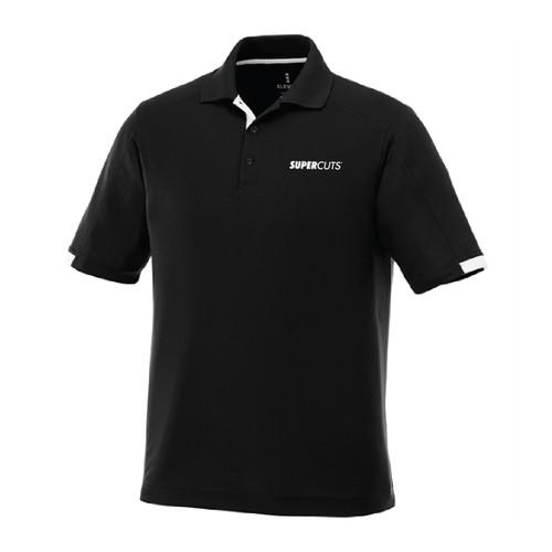 Black Mens Kiso Short Sleeve Polo (Minimum Order Quantity 6)