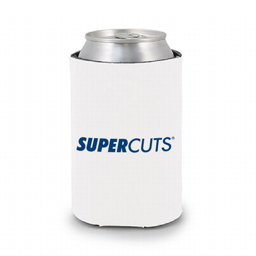 Can Cooler - White - Super Into Hair (Minimum Order Qty 75)