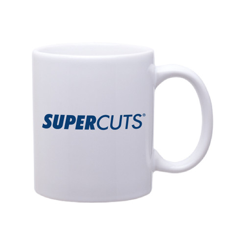 11 oz Mug - White - #TakeItToSupercuts (Minimum Order Qty 72)