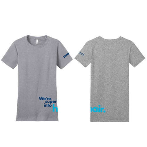 Women's Fitted The Concert Tee - Heather Grey (Minimum Order Qty 12)