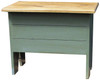 Small bench for home decor | Small 2' Storage Bench | In Old Sage with Stained Top