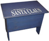 Small bench for home decor | Small 2' Storage Bench | In Old Royal with optional 7x18 sign print